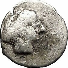 Celtic Tribe of Eastern Europe 200-100Bc Ancient Silver Greek -Like Coin i57626