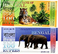 Commercial BANK of BENGAL 100 RUPEES 2014 POLYMER TIGRE ELEPHANT NEUF UNC