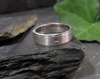 Eleganter 925 Silber Ring Zirkonia Solitär Matt Glänzend Große Größe Sterling