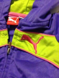 Puma Jacket w/ Hood 12 Month - Purple And Lime Green