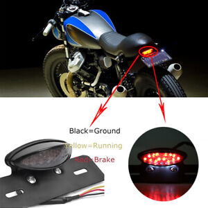 Universal LED Motorcycle Turn Signal Brake License Plate Integrated Tail Light