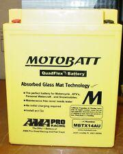 Motobatt Motorcycle Battery YTX14AH YTX14AHBS YTX14AHLBS YB14A1 YB14A2 MBTX14AU