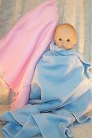 """Doll Clothes Baby Made 2 Fit American Girl 15""""  Bitty Fleece Blankets 2pc Pink"""