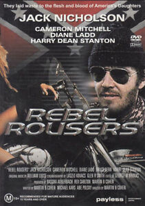 REBEL ROUSERS DVD - Jack Nicholson Movie 1970'S_RARE