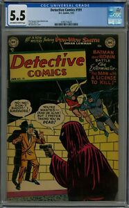 DETECTIVE COMICS #191 CGC 5.5 OFF-WHITE TO WHITE PAGES 1953