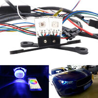 2x RGB LED Light Devil Demon Eyes Bulbs Bluetooth APP Control Headlight Retrofit