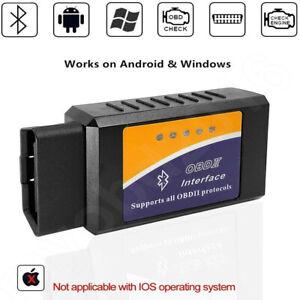 ELM327 EOBD Bluetooth Diagnostic OBD2 Car Engine Scanner Tool Fault Code Reader