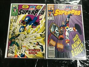 SUPERPRO #11+12 2PC (VF/NM) SPORTS COMICS!! 1992