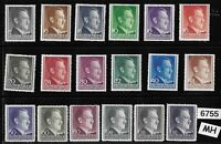 #6755     MH stamp set General Government Poland Germany WWII Adolf Hitler
