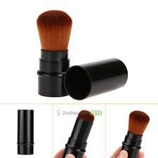Retractable Portable Cosmetic Makeup Brush Blush Foundation Powder Kabuki Black