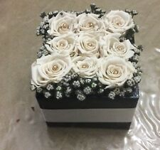 Preserved Roses in Square Box
