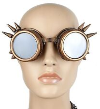Goggles Antique Copper cyber punk biker gothic cosplay aviator Burning Man