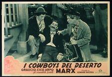 I COWBOYS DEL DESERTO Go West I FRATELLI MARX, FOTOBUSTA POSTER 1a ED. 1949!!