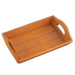 1 pc Wooden Serving Tray Decorative Holder Teaboard for Pastry Breakfast Fruit