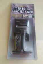 Storm Door & Bracket Saver w/Replacement Door Closer Jamb Bracket - Black - NEW