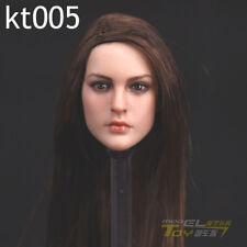 "KIMI TOYS KT005 1/6th Brown Long Hair Girl Head F 12"" TBleague Suntan Figure"