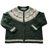 CROFT & BARROW Womens Pinecone I Berries Full Zip Cardigan Sweater I Size 3X
