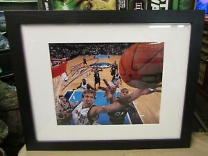 Nice Dirk Nowitzki Signed Autograph 8x11 Framed/Matted Picture No COA