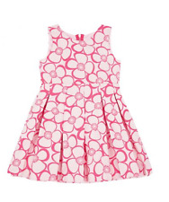 7 Yrs RRP £175 SAMPLE SALE Pink Floral Dress with Exposed Zip by Amberley London