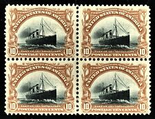 [sto131] 1901 Scott#299 10¢ Block of 4 MNH  cv:$1,440 PAN-AMERICAN EXPO ISSUE