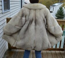Blue Fox Fur Jacket - Large, Coat, Full Pelt, like mink, lynx, sable, off white
