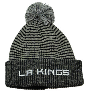 Los Angeles Kings NHL Team Wordmark Knit Beanie Pom Pom Winter Hat by Fanatics