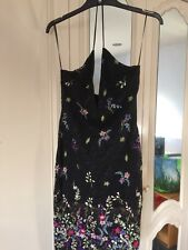 Miss Guided Sample SSS size 8 Black Lace Embroidery Strap Dress