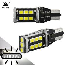 Syneticusa T10/192 Flash Strobe White LED High Mount Stop 3RD Brake Light Bulbs