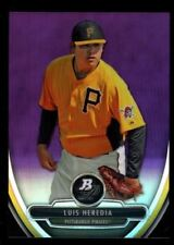 LUIS HEREDIA PIRATES MINT RC PURPLE REFRACTOR  2013 BOWMAN PLATINUM CHROME 6A