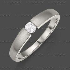 Verlobungsring Antragsring Echt Weiß Gold 585 Solitär Ring Brillant 0,20 ct w/si