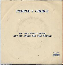 "PEOPLE'S CHOICE My Feet Won't Move, But My... - VINYL 7"" 45 LP ITALY 1980 NM/VG+"