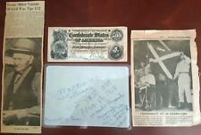 Collection of Civil War oldest Veteran with his handwriting and confederate $500