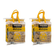 Western Bbq Pinon Log Wood Pellet Firewood for Camp Fires & Fireplaces (2 Pack)