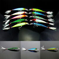 New 10pcs Fishing Lures Crankbaits Hook Crank Fishing Minnow Baits Tackle