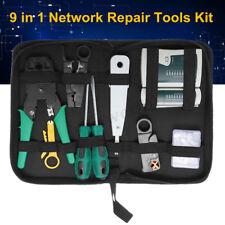 LAN Network Repair Cable Tester Crimper Plier Hand Tool Kit Cat5 RJ45 RJ11