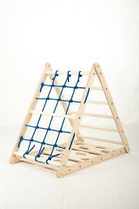 Orang-Utan Klettergerüst Pikler Dreieck Strick Sprossenwand 3in1 Montessori