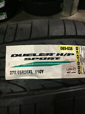 1 New 275 45 20 Bridgestone Dueler H/P Sport Tire