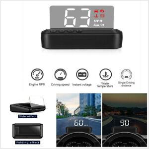 Universal OBD2 HUD Mirror Car Head Up Display Speedometer Projector RPM KMH MPH