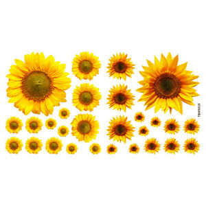 Sunflower Wall Stickers Mural Art Wall Decal Bedroom Living Room Home-Decor DIY