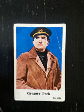 1956 VINTAGE SWEDISH DUTCH GUM MOVIE STAR CARD #NR 624 GREGORY PECK PSA NR624