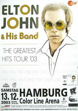 ELTON JOHN & HIS BAND TOURPOSTER KONZERTPLAKAT THE GREATEST HITS TOUR HAMBURG 03