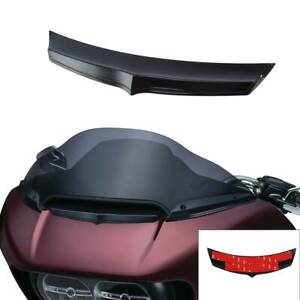 Black Front Fairing Air Flow Vent Accent Trim Fit For Harley Road Glide 15-20 19