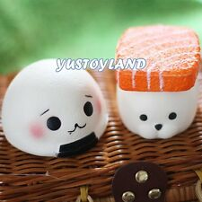 Salmon Soft Sushi Rice Ball Squishy Slow Rise Phone Charm Toy Gift Home Decor