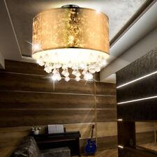 cristal Luminaire de plafond LA VIE chambre éclairage feuilles or design tissu