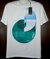 Armani Exchange White  Logo Design Cotton  Men's T-Shirt Size XL Slim Fit