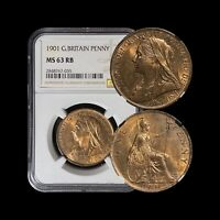 1901 Great Britain Penny - NGC MS63 (CH UNC) - Top 200 (high mintage)