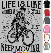 Graphic Tee Cycling Regular Size T-Shirts for Men