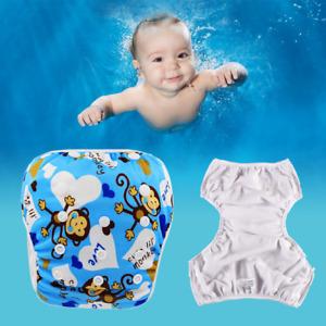 liltourist Schwimmwindel für Babys, Waschbar und Wiederverwendbar (Blaue Affen)