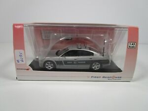 FIRST RESPONSE 1/43 SILVER NORTH CAROLINA STATE HIGHWAY PATROL DODGE CHARGER