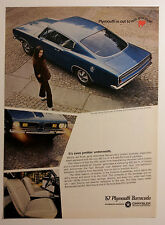 1967 Plymouth Barracuda Ad - Must See !!